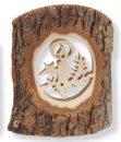 Rindenbild Kerzenschein