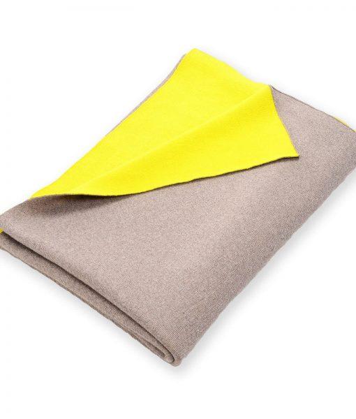 Doubleface Gelb Grau