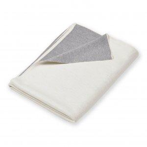 Doubleface Weiß Grau aufgeschlagen