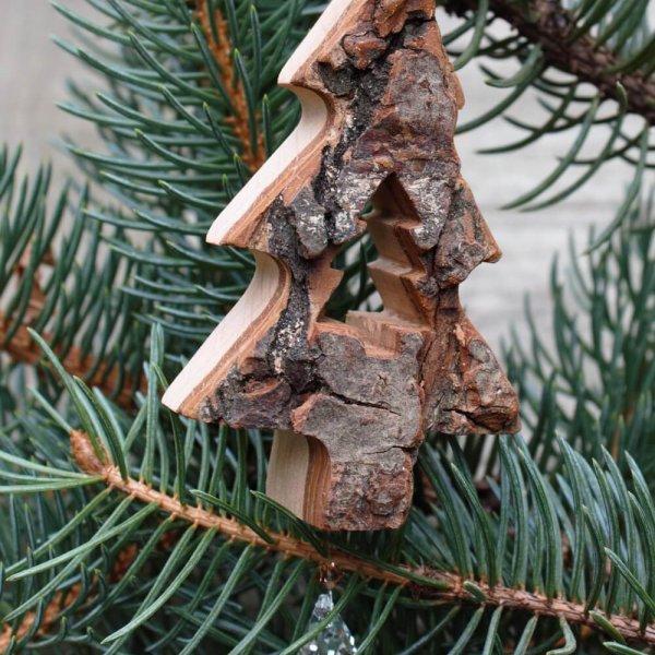 Ruhrende Rindenanhanger Tannenbaum Mit Kristall Margreblue